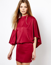 robe moulante rouge asos