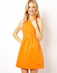 robe orange pepe jeans