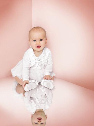 Armani, bébé, fille