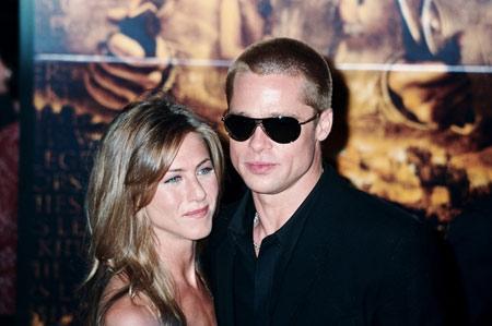Jennifer Aniston et Brad Pitt